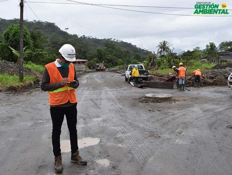 Fiscalización del Asfaltado de las Calles del Barrio Las Playas, Cantón Santa Clara