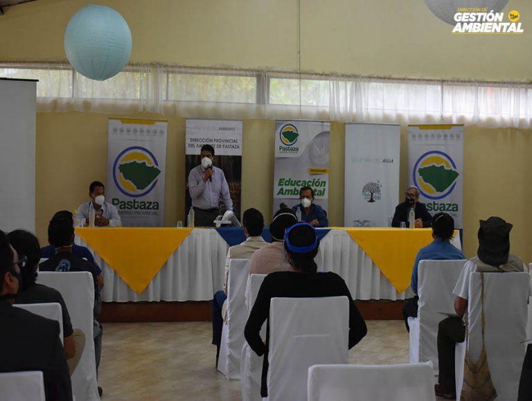 Prefecto firmó acta para conformación del Consejo Consultivo Local de Educación Ambiental de Pastaza